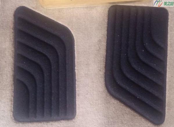 汽车毛毡脚垫焊接样品