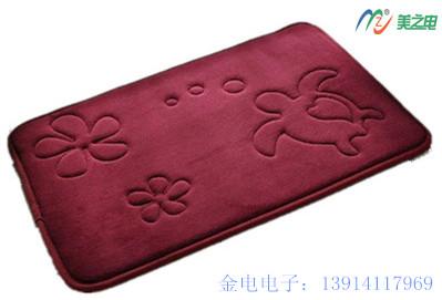 珊瑚绒地毯压花样品