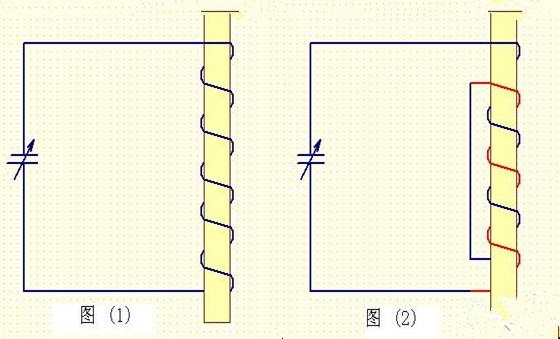 高频电感线圈饶法连接图