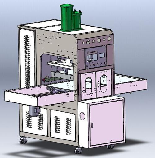 新款高周波熔断机三维图