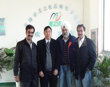 美之电高频机与巴基斯坦客户
