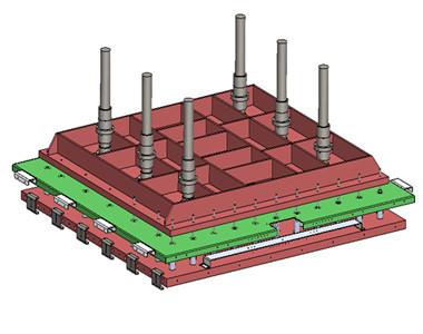 高周波上压板结构