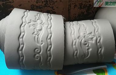 海绵床垫高周波压花样品