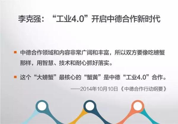 李克强工业4.0中德合作意义
