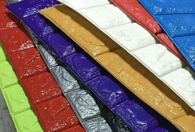 PVC发泡墙纸热合样品