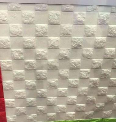 PVC发泡墙纸压花样品