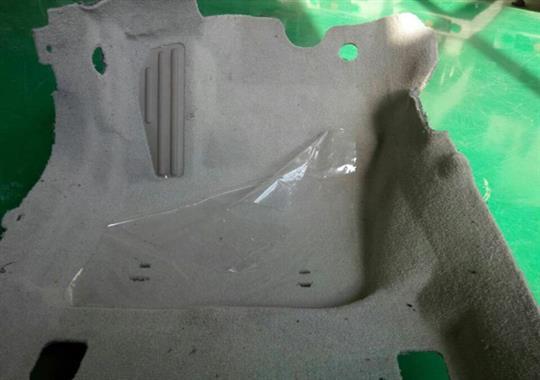 汽车脚垫焊接机样品
